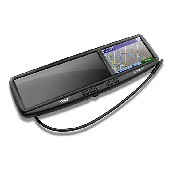 Pyle PLCMDVR7G Rear View Mirror Dash Camera System Bluetooth Handsfree GPS DVR Thumbnail 2