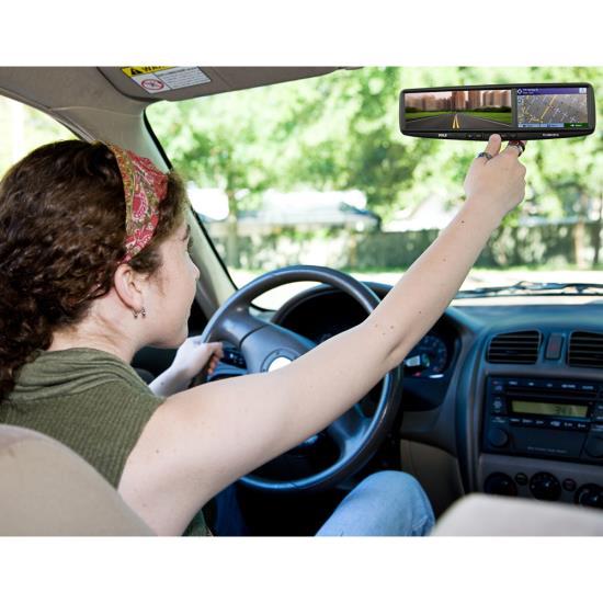 Pyle PLCMDVR7G Rear View Mirror Dash Camera System Bluetooth Handsfree GPS DVR Thumbnail 7