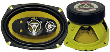 Pyle PLG69.5 6'' x 9'' 450w Five-Way Coaxial Full Range Car Door Shelf Speakers Thumbnail 1