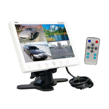 "Pyle PLHRQD9W 9"" Quad TFT LCD Security 4 Camera Video Monitor With Shroud Stand Thumbnail 2"