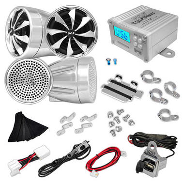 Pyle PLMCA98 1200w Motorcycle Motorbike Speakers Amplifier USB SD Mp3 FM Thumbnail 1