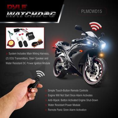 Pyle PLMCWD15 Motorcycle Alarm System w/WaterResistant Mini Wireless Control Thumbnail 2