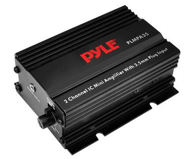 Pyle PLMPA35 2 Channel 300w Mini 12v Stereo Amplifier Smartphone Mobile Phone Thumbnail 1