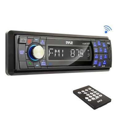 Pyle PLMR17BTB AM/FM Marine Detachable Face Radio w/SD/MMC/USB & Bluetooth Thumbnail 1