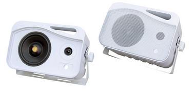 Pair Of 300w Pyle Marine WaterProof Box Speakers System Boat Patio Outdoor Thumbnail 1