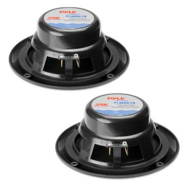 "Pyle PLMR61B 120W 6.5"" Dual Cone Marine Boat Outdoor WaterProof Patio Speakers Thumbnail 2"