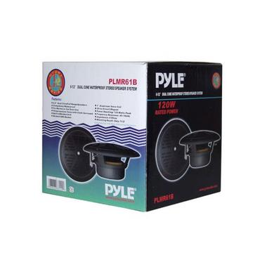 "Pyle PLMR61B 120W 6.5"" Dual Cone Marine Boat Outdoor WaterProof Patio Speakers Thumbnail 5"