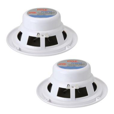 "Pyle PLMR62 200w 6.5"" 2 Way White Marine Boat Outdoor WaterProof Patio Speakers Thumbnail 2"
