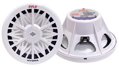 "Pyle PLMRW10 10"" 500W 4 Ohm Marine WaterProof ABS Subwoofer Sub Bass Speaker Thumbnail 1"