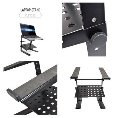 PYLE-PRO PLPTS30 Laptop Computer Stand For DJ with Flat Bottom Legs Thumbnail 2