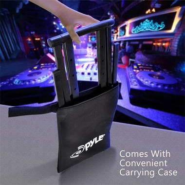 Pyle PLPTS35 Universal Portable Foldable Professional DJ Laptop Controller Stand Thumbnail 5