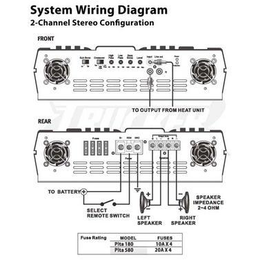 Pyle 24v Truck 2 Ch Two Channel 800w Black Bridgeable Car Speaker Amplifier Amp Thumbnail 4
