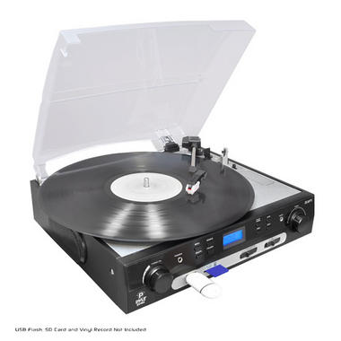 PYLE PLTTB9U USB Turntable with direct-to-digital USB/SD Card Encoder and Built-in AM/FM Radio Conversion Thumbnail 1