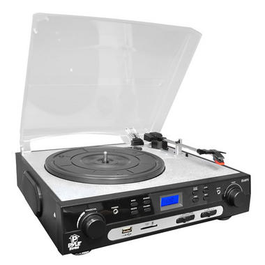 PYLE PLTTB9U USB Turntable with direct-to-digital USB/SD Card Encoder and Built-in AM/FM Radio Conversion Thumbnail 5