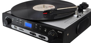 PYLE PLTTB9U USB Turntable with direct-to-digital USB/SD Card Encoder and Built-in AM/FM Radio Conversion Thumbnail 4