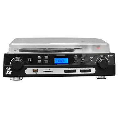 PYLE PLTTB9U USB Turntable with direct-to-digital USB/SD Card Encoder and Built-in AM/FM Radio Conversion Thumbnail 2