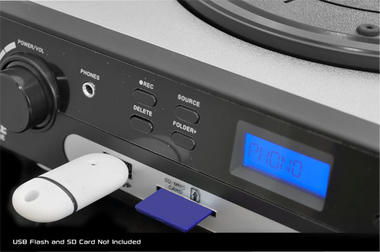 PYLE PLTTB9U USB Turntable with direct-to-digital USB/SD Card Encoder and Built-in AM/FM Radio Conversion Thumbnail 6