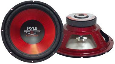 Pyle PLW12RD Red 12-Inch 30cm 800w Car Audio Bass Subwoofer Sub Woofer SQ Thumbnail 1
