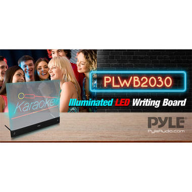 PLWB2030 Erasable Desktop Illuminated LED Writing Board w/ Remote With 8 Markers Thumbnail 3
