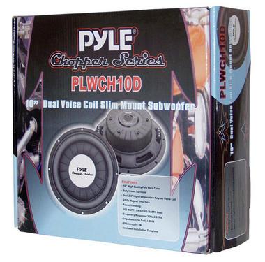 Pyle PLWCH10D 10 inch 1000W Ultra Slim DVC Car Van Truck Subwoofer Sub Thumbnail 4