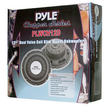 "Pyle Chopper 12"" Inch 1200w Slim Shallow Mount Underseat Car Subwoofer Bass Sub Thumbnail 4"