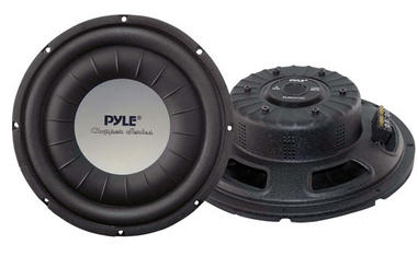 "Pyle Chopper 12"" Inch 1200w Slim Shallow Mount Underseat Car Subwoofer Bass Sub Thumbnail 1"