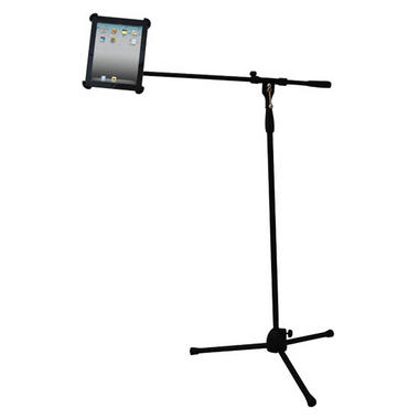 Pyle-Pro PMKSPAD1 Multimedia Microphone Music Stand With Adapter For Ipad Thumbnail 1
