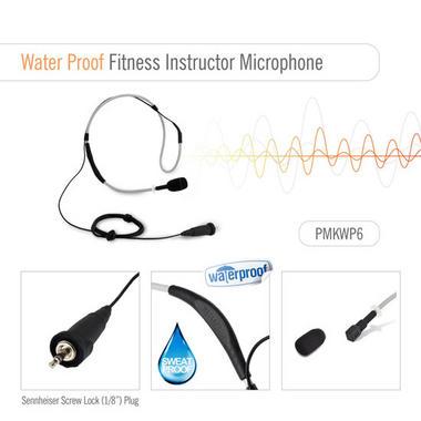 Pylesports PMKWP6 Flexible Waterproof Headset Microphone Omni-Directional Grey Thumbnail 2