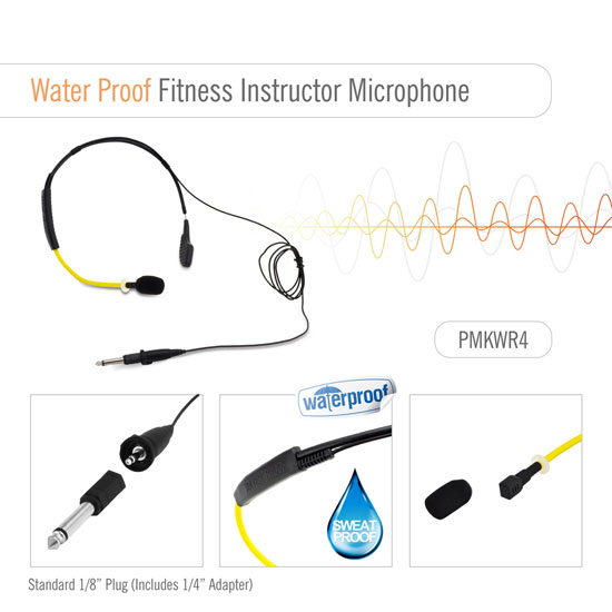 PyleSports Flexible Waterproof Headset Microphone for Exercise/Fitness PMKWR4 Thumbnail 2