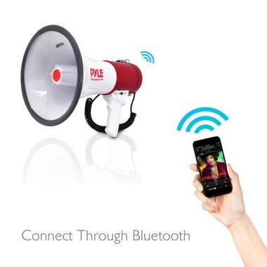 Pyle PMP52BT Bluetooth Megaphone Bullhorn AUX (3.5mm) Input Built-in USB Flash Thumbnail 3