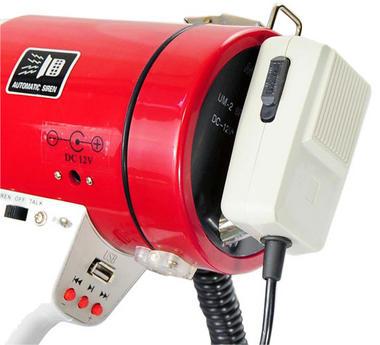 Pyle Pro Megaphone & Strap Mega Phone 50w Pistol Grip Loud Speaker And Siren USB Thumbnail 2