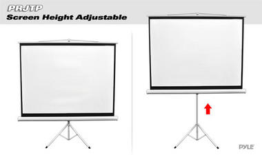 PRJTP100 100-Inch Standing Portable Fold-Out Roll-Up Tripod Projector Screen Thumbnail 3