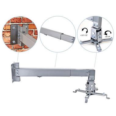 Pyle PRJWM8 Universal Projector Holder Wall Mount Telescoping Length, Angle Tilt Thumbnail 2