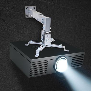 Pyle PRJWM8 Universal Projector Holder Wall Mount Telescoping Length, Angle Tilt Thumbnail 5
