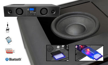 Pyle-Home PSBV200BT Soundbar With Bluetooth Usb/Sd/Fm Radio 300w With Remote Thumbnail 3