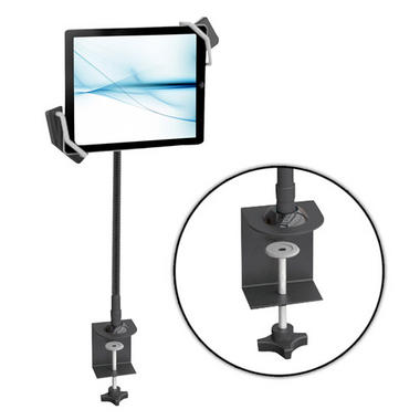 Pyle PSPAD15 Desk Clamp Tablet Holder iPads Kindle Android Nexus Galaxy USB Port Thumbnail 1