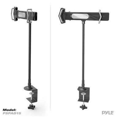 Pyle PSPAD15 Desk Clamp Tablet Holder iPads Kindle Android Nexus Galaxy USB Port Thumbnail 2