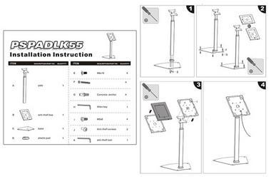 Pyle PSPADLK55 Universal Anti-Theft iPad Stand Kiosk / Holder / Display Case Thumbnail 2