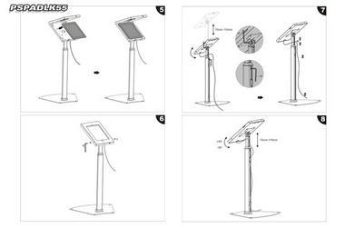 Pyle PSPADLK55 Universal Anti-Theft iPad Stand Kiosk / Holder / Display Case Thumbnail 3