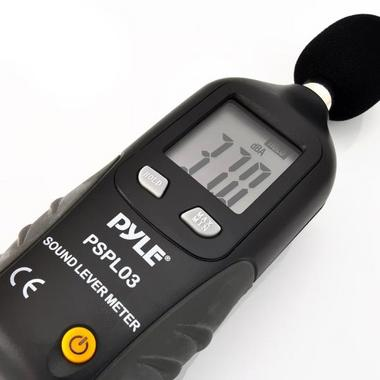 Pyle-Meters PSPL03 Mini Sound Level Meter with A Frequency Weighting Decebel dB Thumbnail 3