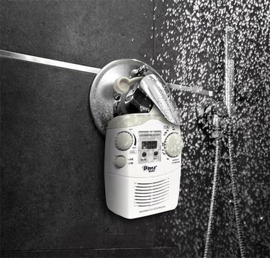 Pyle Home PSR6 Hanging WaterProof SteamProof AM FM Shower Bathroom Clock Radio Thumbnail 3