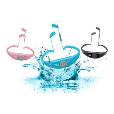 Pyle PSWBT7PN Sport Waterproof Bluetooth Headphones And Call Answering- Pink Thumbnail 4
