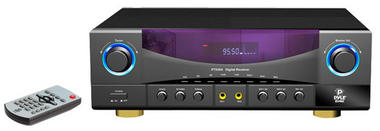 Pyle PT530A Two Channel Home Stereo Speaker Amplifier 350w Built-In AM FM Radio Thumbnail 1