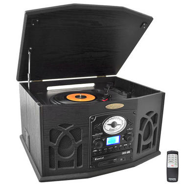 PyleHome PTCDS7UIB Retro Vintage Turntable System with Built In Speaker Thumbnail 1