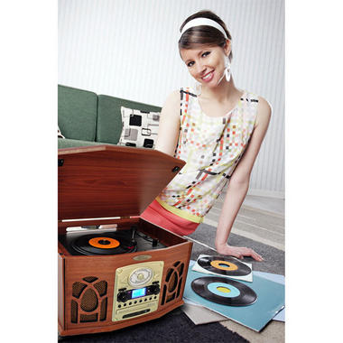 PyleHome PTCDS7UIW Retro Vintage Turntable System with Built-in Speaker Thumbnail 6