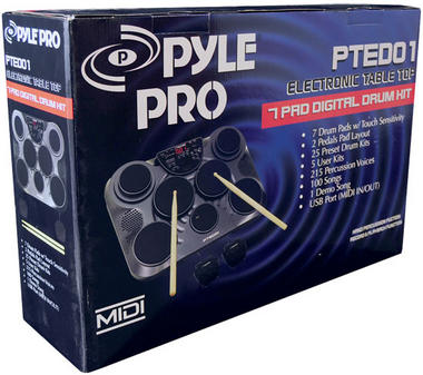 Pyle-Pro PTED01 Electronic Table Digital Drum Kit Top w/ 7 Pad Digital Drum Kit Thumbnail 8