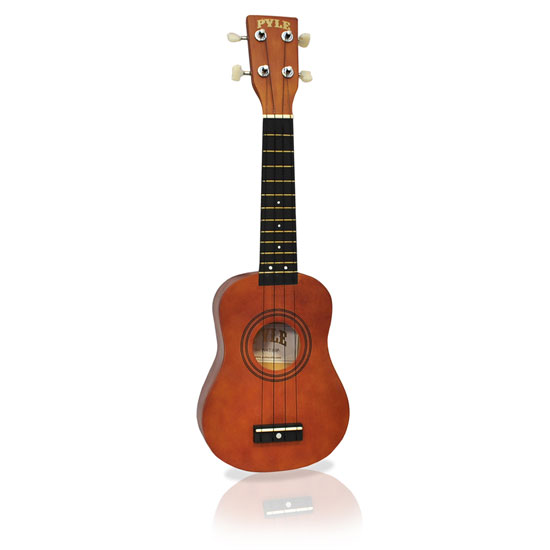 PYLE-PRO PUKT15BR 21-Inch Soprano Ukelele With Bag, Picks - Maple/Brown Thumbnail 1