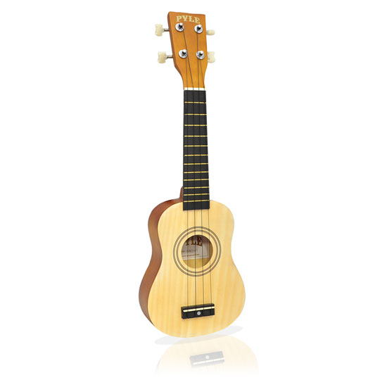 "Pyle PUKT15NT 21"" Beginers Soprano Ukulele With Bag And Picks Natural Colour Thumbnail 1"