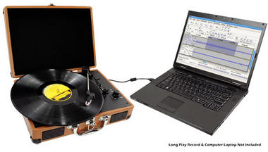 PVTT2UWD Rechargeable Retro Belt-Drive Turntable Built in Speakers & USB-to-PC Thumbnail 8