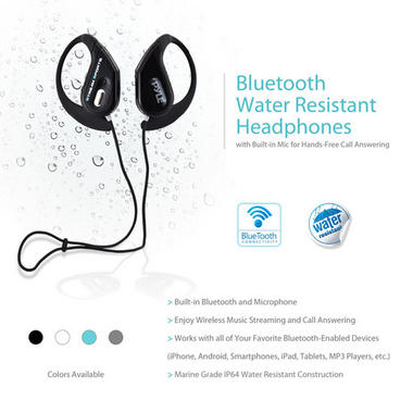 PWBH18BK Waterproof Bluetooth Swimming Wireless Earphones Built-in Mic Handsfree Thumbnail 3